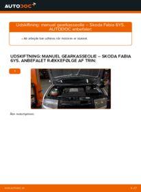 Hvordan man udfører udskiftning af: Gearkasseolie på 1.4 16V Skoda Fabia 6y5