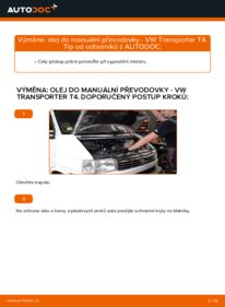 Jak provést výměnu: Olej do prevodovky na 2.5 TDI VW T4 Transporter