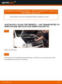 Wie der Wechsel durchführt wird: Getriebeöl und Verteilergetriebeöl VW T4 Transporter 2.5 TDI 2.4 D 1.9 TD tauschen
