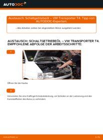 Wie der Wechsel ausgeführt wird: Getriebeöl und Verteilergetriebeöl beim VW TRANSPORTER