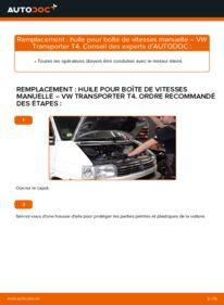 Comment effectuer un remplacement de Huile De Transmission et Huile Boite De Vitesse sur 2.5 TDI VW T4 Transporter