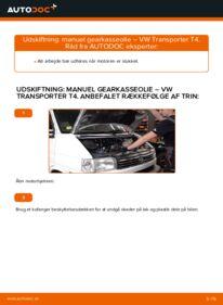 Hvordan man udfører udskiftning af: Gearkasseolie på 2.5 TDI VW T4 Transporter
