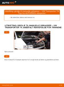 Slik bytter du Girolje og Akselgirolje på VW TRANSPORTER