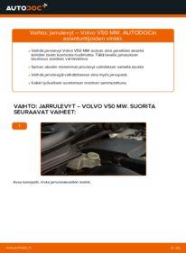 Kuinka vaihtaa Jarrulevyt 2.0 D Volvo v50 mw -autoon