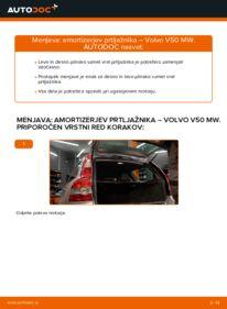 Kako izvesti menjavo: Amortizer Pokrova Prtljažnika na 2.0 D Volvo v50 mw