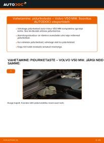 Kuidas välja vahetamist läbi viia: 2.0 D Volvo v50 mw Piduriketas