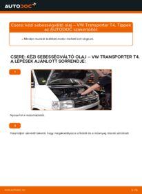 Hogyan végezze a cserét: VW TRANSPORTER Váltóolaj