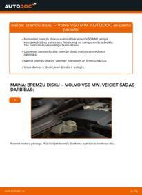 Kā veikt nomaiņu: VOLVO V50 Bremžu diski