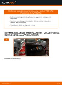 Kaip atlikti keitimą: 2.0 D Volvo v50 mw Bagazines Amortizatorius