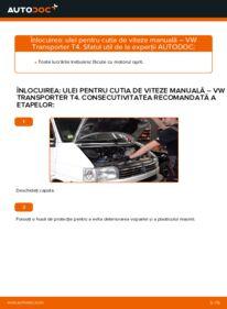 Cum să efectuați înlocuirea: Ulei de transmisie la 2.5 TDI VW T4 Transporter