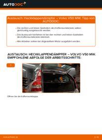Wie der Wechsel durchführt wird: Heckklappendämpfer 2.0 D Volvo V50 Kombi tauschen