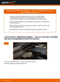 Wie der Wechsel durchführt wird: Bremsscheiben Volvo v50 mw 2.0 D 1.6 D 1.6 D2 tauschen