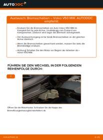 Wie der Wechsel durchführt wird: Bremsscheiben 2.0 D Volvo v50 mw tauschen