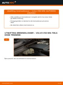 Slik bytter du Bremseklosser på VOLVO V50