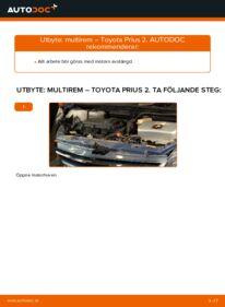 Så byter du Multirem på 1.5 (NHW2_) Toyota Prius 2