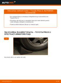 Cum să efectuați înlocuirea: Rulment roata la 1.5 (NHW2_) Toyota Prius 2