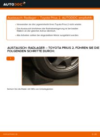 Wie der Wechsel durchführt wird: Radlager 1.5 (NHW2_) Toyota Prius 2 tauschen