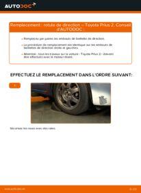 Comment effectuer un remplacement de Rotule De Direction sur 1.5 (NHW2_) Toyota Prius 2