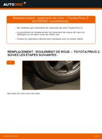 Comment effectuer un remplacement de Roulement De Roues sur 1.5 (NHW2_) Toyota Prius 2