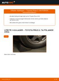 Så byter du Hjullager på 1.5 (NHW2_) Toyota Prius 2