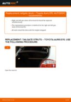 Free online instructions on how to renew Boot gas struts on TOYOTA AURIS (NRE15_, ZZE15_, ADE15_, ZRE15_, NDE15_)