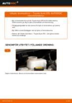 PDF guide för byta: Bromsskiva TOYOTA AURIS (NRE15_, ZZE15_, ADE15_, ZRE15_, NDE15_) bak och fram