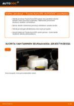 TOYOTA AURIS Etujarrulevyt ja takajarrulevyt vaihto: ilmainen pdf