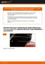 Αντικατάσταση Αμορτισερ πισω πορτας TOYOTA μόνοι σας - online εγχειρίδια pdf