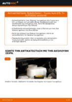 Αλλαγή Δισκόπλακα TOYOTA AURIS: εγχειριδιο χρησης