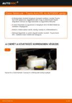 Elülső féktárcsák-csere Toyota Auris E15 gépkocsin – Útmutató