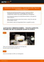 TOYOTA AURIS (NRE15_, ZZE15_, ADE15_, ZRE15_, NDE15_) Radbremszylinder rechts + links tauschen: Handbuch pdf