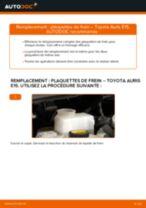 Notre guide PDF gratuit vous aidera à résoudre vos problèmes de TOYOTA Toyota Auris e15 2.0 D-4D (ADE150_) Plaquettes de Frein