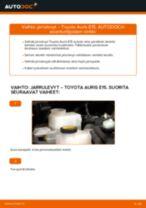 Kuinka vaihtaa ja säätää Etujarrulevyt ja takajarrulevyt TOYOTA AURIS: pdf-opas