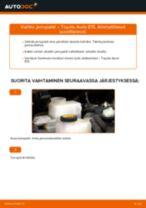 TOYOTA AURIS Jarrupalat vaihto: ohjekirja