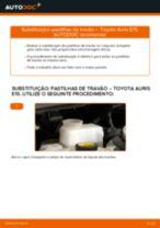 Mudar Jogo de pastilhas de travão Discos de freio TOYOTA faça você mesmo - manual online pdf