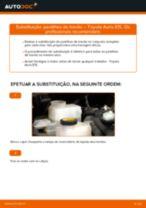 Instalação Calços de travão TOYOTA AURIS (NRE15_, ZZE15_, ADE15_, ZRE15_, NDE15_) - tutorial passo-a-passo