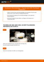 Bremssteine Low-Metallic tauschen: Online-Tutorial für TOYOTA AURIS
