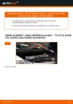 Comment changer : bras inférieur avant sur Toyota Auris E15 - Guide de remplacement