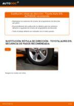 Cambio Latiguillos de Freno delanteros y traseros TOYOTA AURIS (NRE15_, ZZE15_, ADE15_, ZRE15_, NDE15_): guía pdf