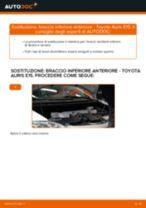 Come cambiare braccio inferiore anteriore su Toyota Auris E15 - Guida alla sostituzione