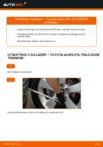 Skifte Hjullagersett TOYOTA AURIS: gratis pdf