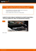 Manual DIY sobre como substituir o Braço transversal no TOYOTA AURIS (NRE15_, ZZE15_, ADE15_, ZRE15_, NDE15_)