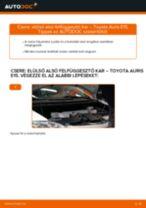 Elülső alsó felfüggesztő kar-csere Toyota Auris E15 gépkocsin – Útmutató