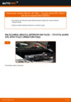 Cum se înlocuiesc și se ajustează Brat oscilant TOYOTA AURIS: manual pdf