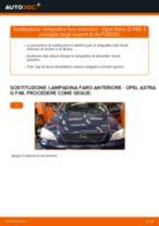 Come cambiare lampadina faro anteriore su Opel Astra G F48 - Guida alla sostituzione