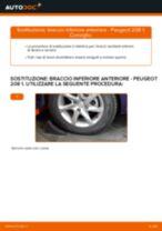 Cambio Braccio oscillante sospensione ruota istruzioni pdf per PEUGEOT 208