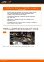 Come cambiare dischi freno della parte anteriore su VW Golf 5 - Guida alla sostituzione