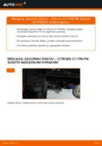 Kako zamenjati in prilagoditi Drzalo, vlezajenje stabilizatorja CITROËN C1: vodnik pdf