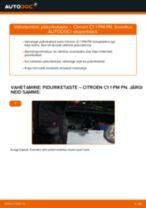 DIY käsiraamat Kinnitus Pidurisadul asendamiseks CHRYSLER PT CRUISER