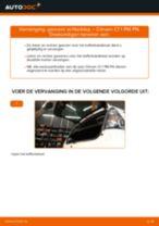 Ruitenwisser Mechaniek veranderen CITROËN C1: werkplaatshandboek